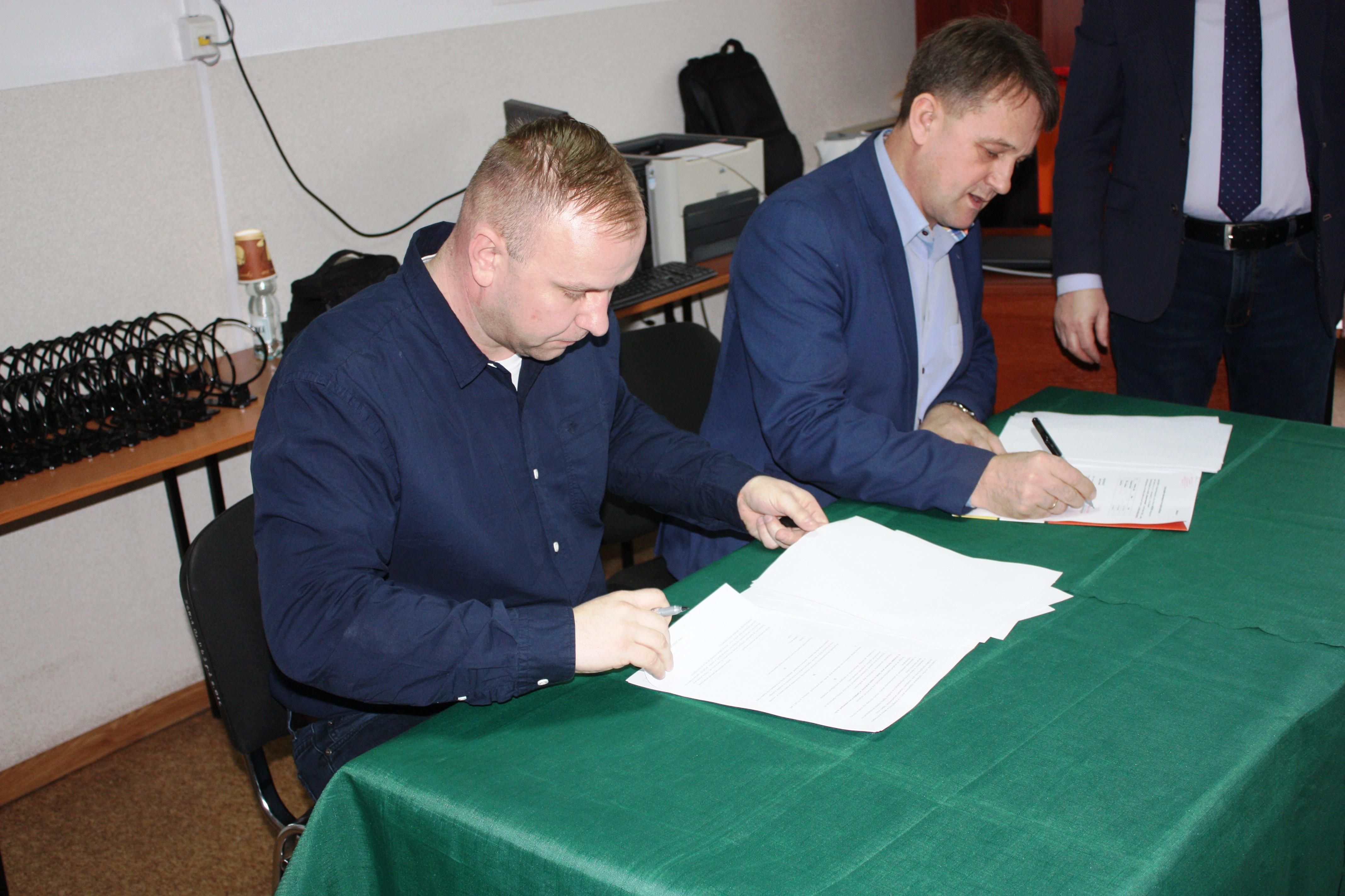 Podpisanie umowy współpracy z Zespołem Szkół Nr 1